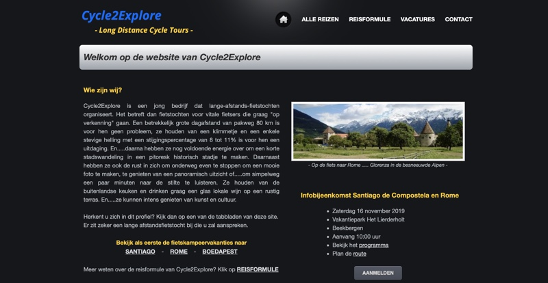 Cycle2Explore website