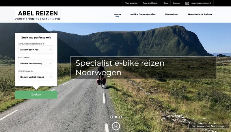 abel-reizen.nl website