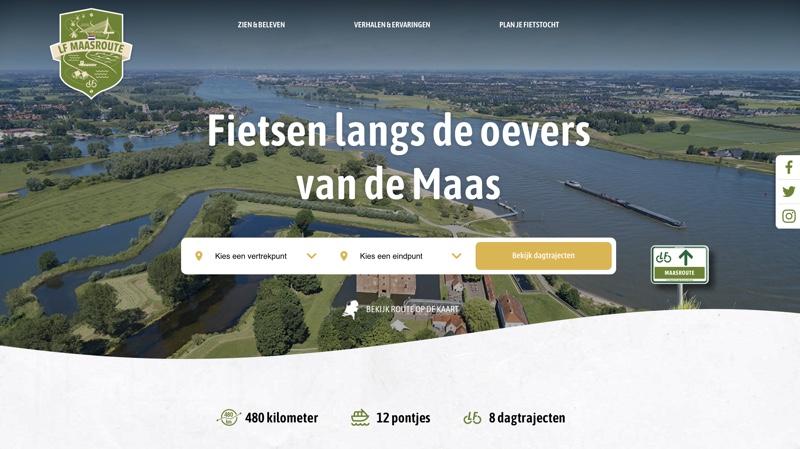 LF Maasroute eerste der LF-icoonroutes