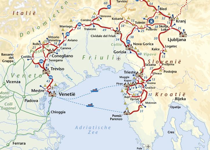 Benjaminse fietsroute van Salzburg naar Venetië en Istrië