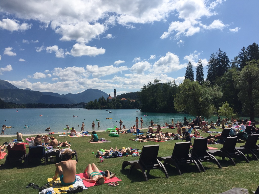 strand voor camping Bled
