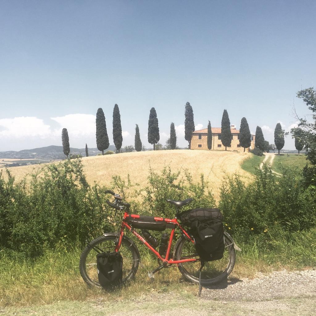 fietsreis naar Rome door Toscane
