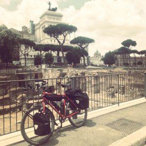 fietsen naar Rome centrum