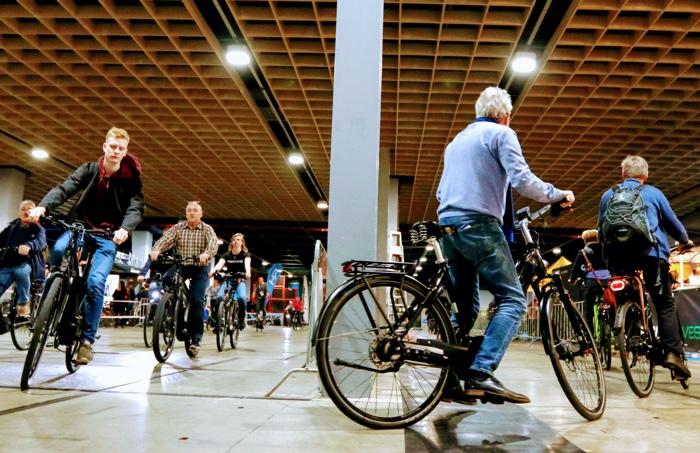 fietsparcours op de fietsbeurs