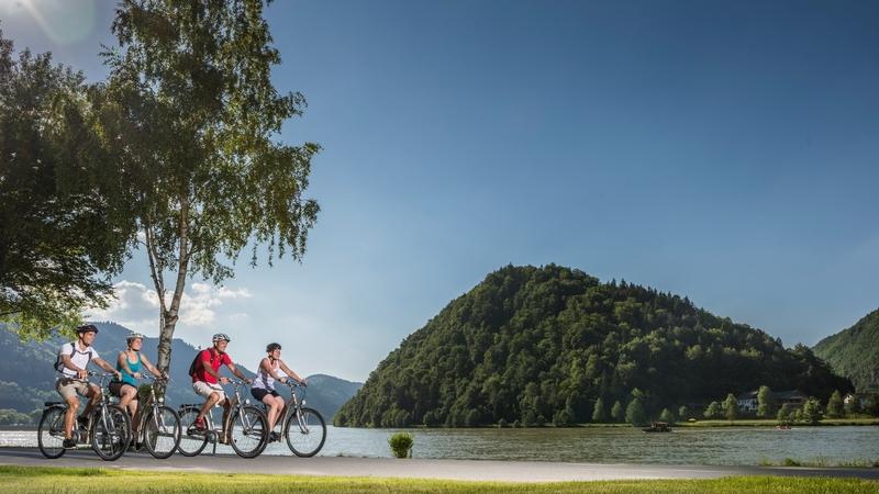 Donau fietspad bij de Schlögener Schlinge