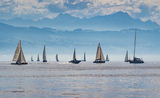 zeilboten op de Bodensee