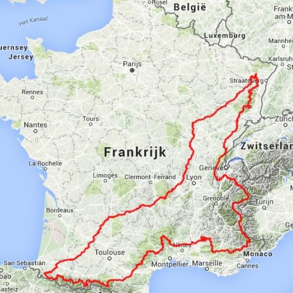 route 100 cols tocht