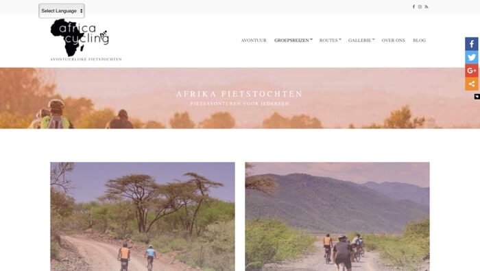 africa cycling website