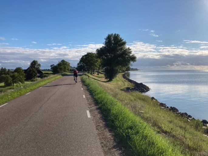 fietsen langs de Zuiderzeeroute