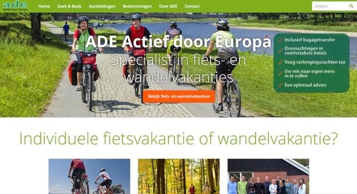 ADE actief door europa website