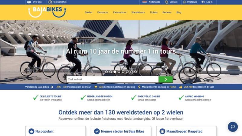 baja bikes fietstours website
