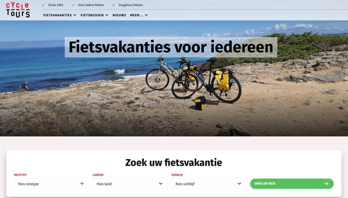 cycletours website
