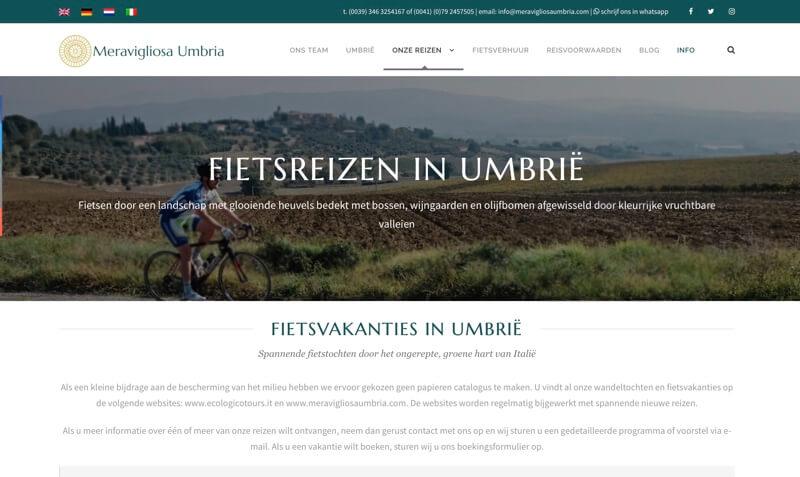 website fietsen in Umbrië