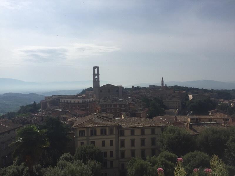 Perugia hoofdstad van Umbrië