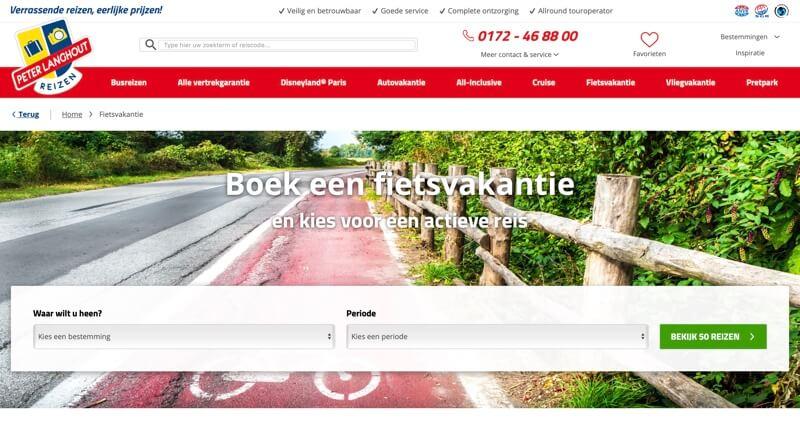 peter langhout fietsvakanties