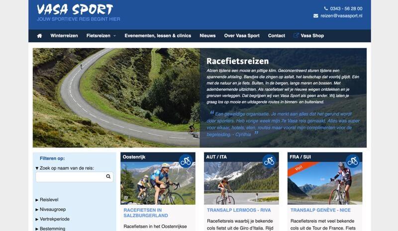 vasa sport website