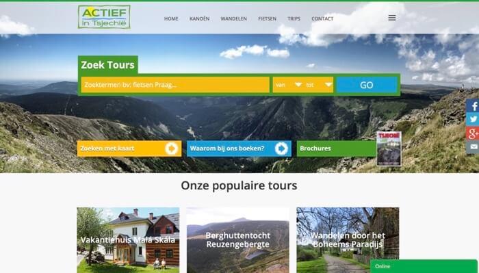website Actief in Tsjechië
