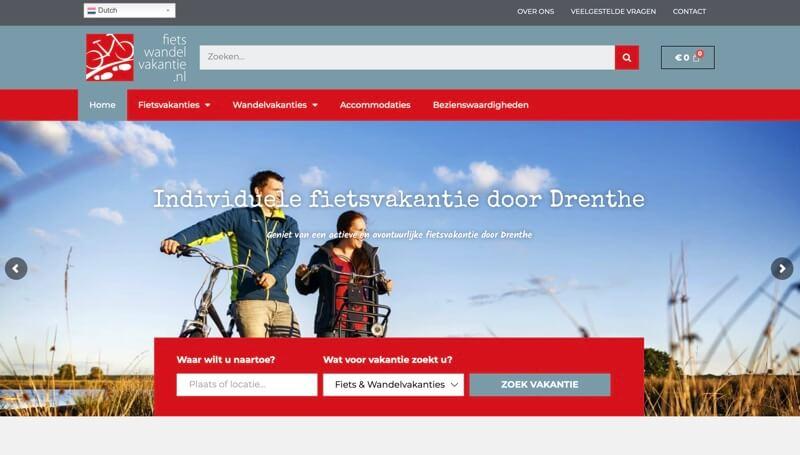website over fietsen in Drenthe