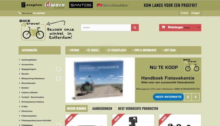 bike4travel.nl website