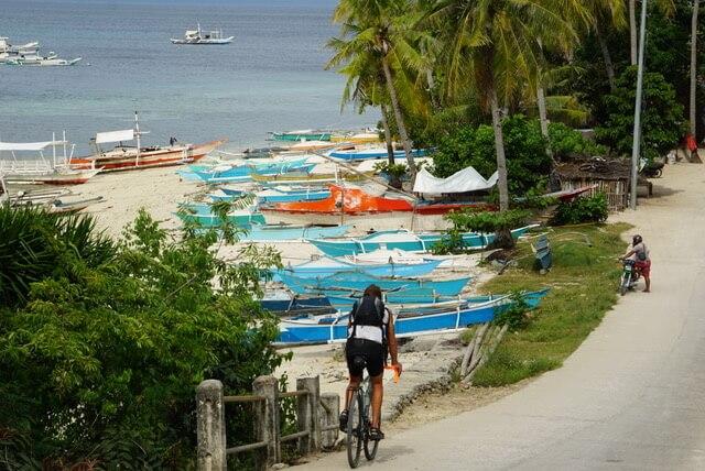 fietsen op de Filipijnen