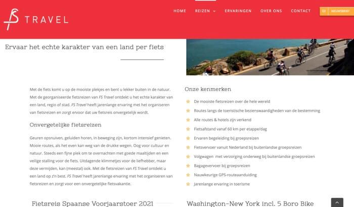 FS travel website