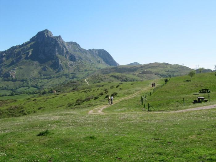 fietsen in Asturië landschap