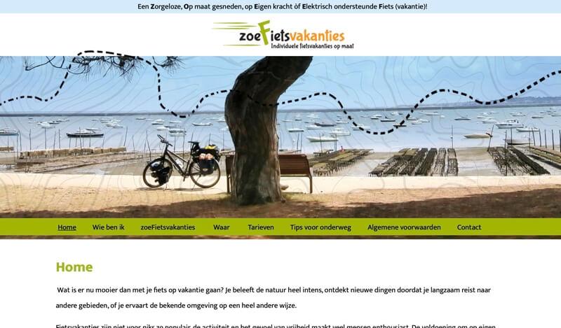 website van zoefietsvakanties
