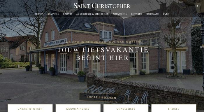 saint christopher fietsvakantiewinkel website