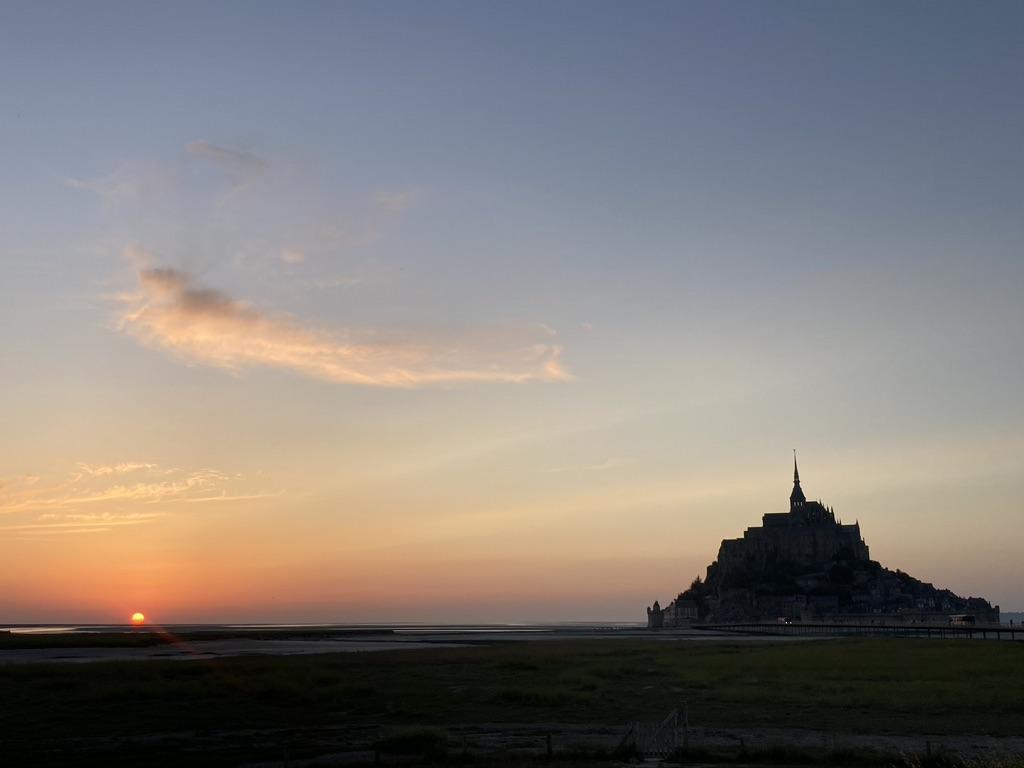 Zonsondergang Mont Saint Michel