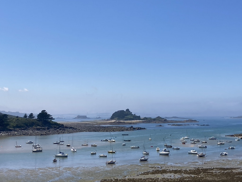 uitzicht baai Bretagne