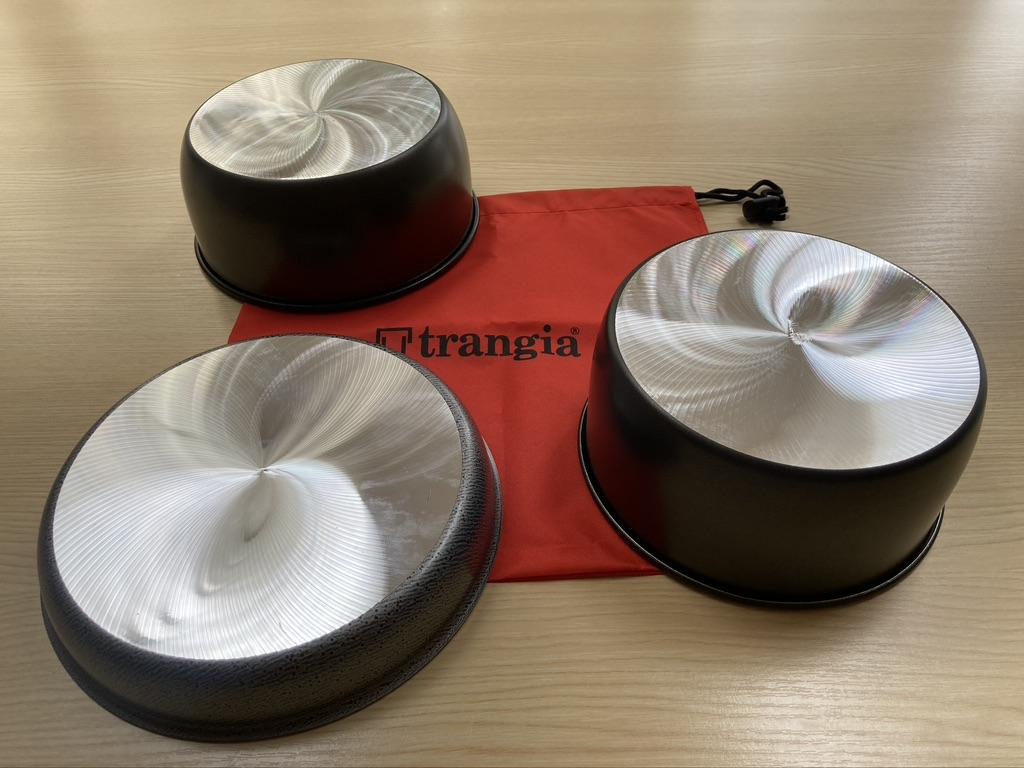 Trangia pannen met gefreesde groeven